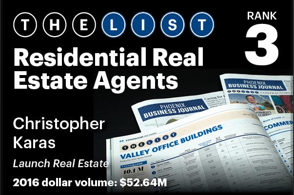 Chris Karas Named Top 3 Residential Real Estate Agents
